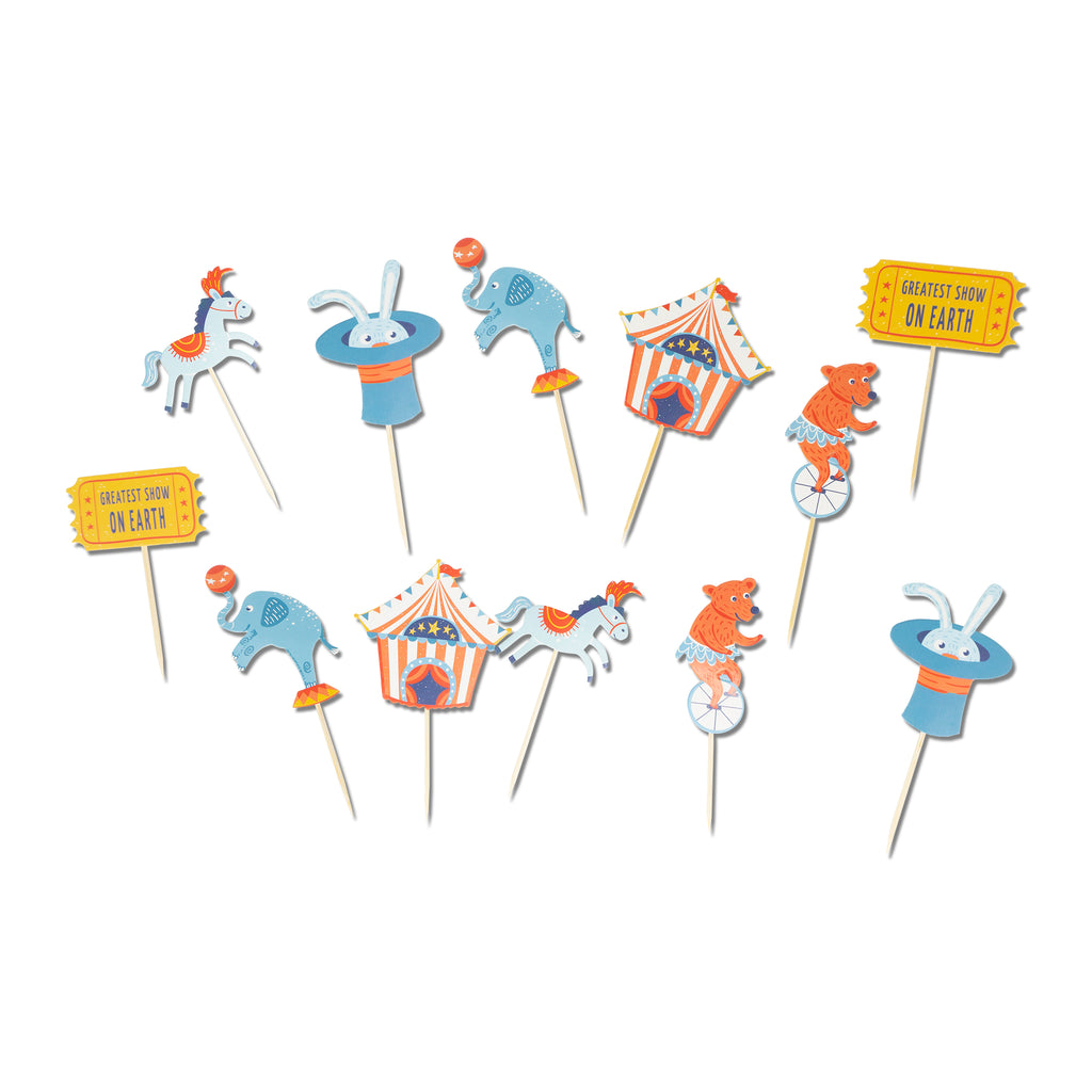 Greatest Show on Earth Cupcake Toppers