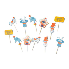 Circus cupcake toppers