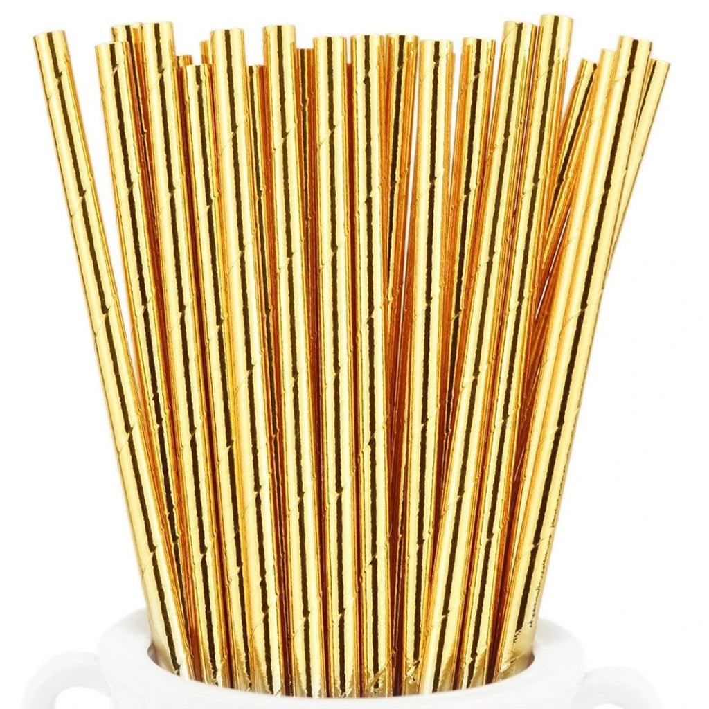 Gold Biodegradable Paper Straws