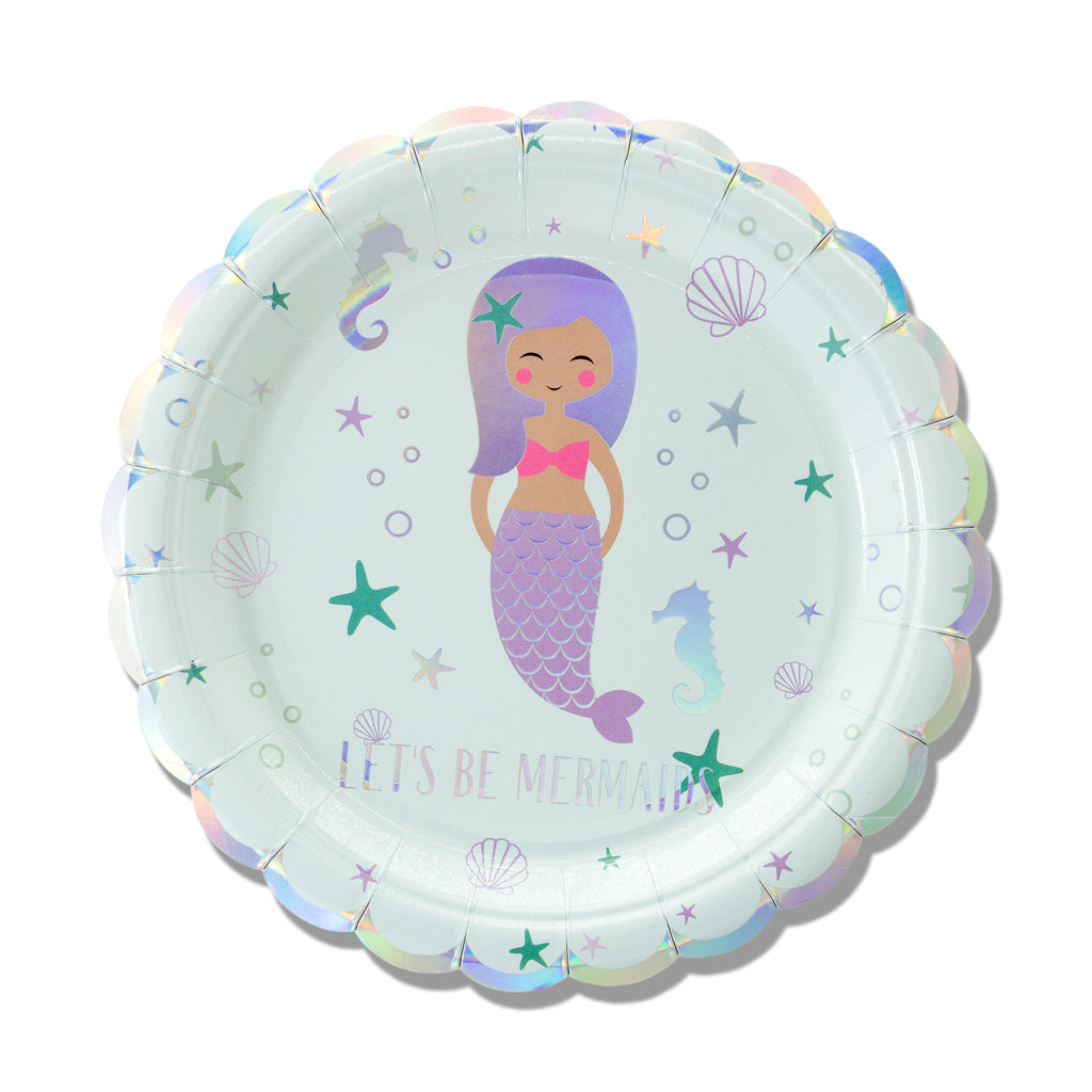 "9"" Mermaid Plates"