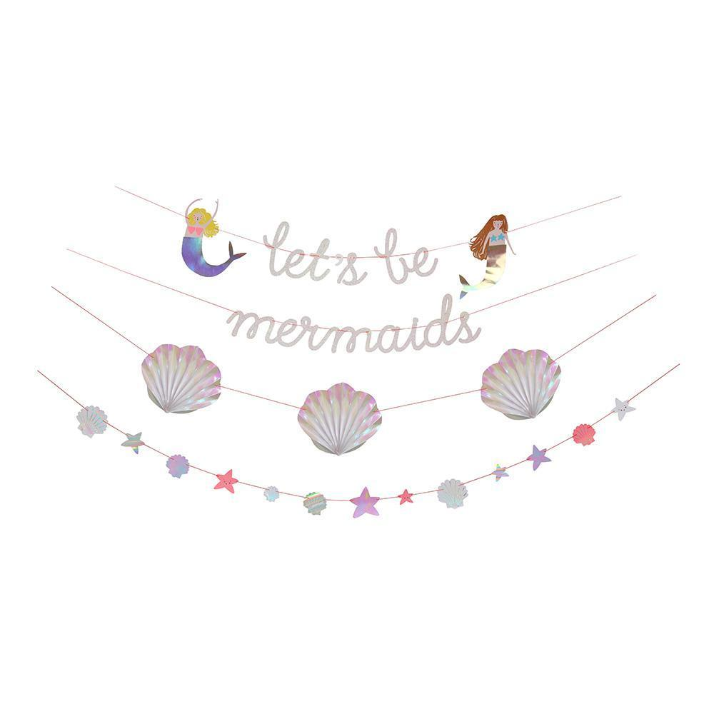 Let's be Mermaids Party Banner
