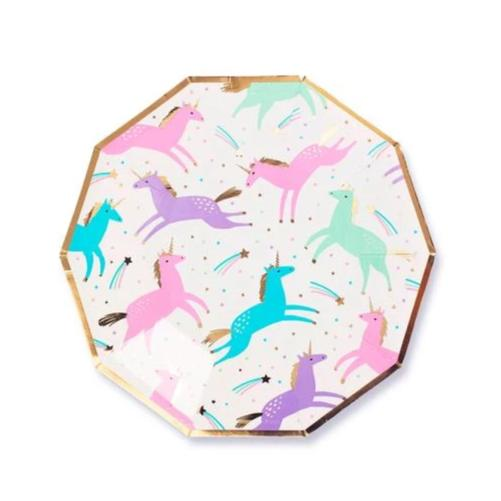 "7"" Magical Unicorn Plates"