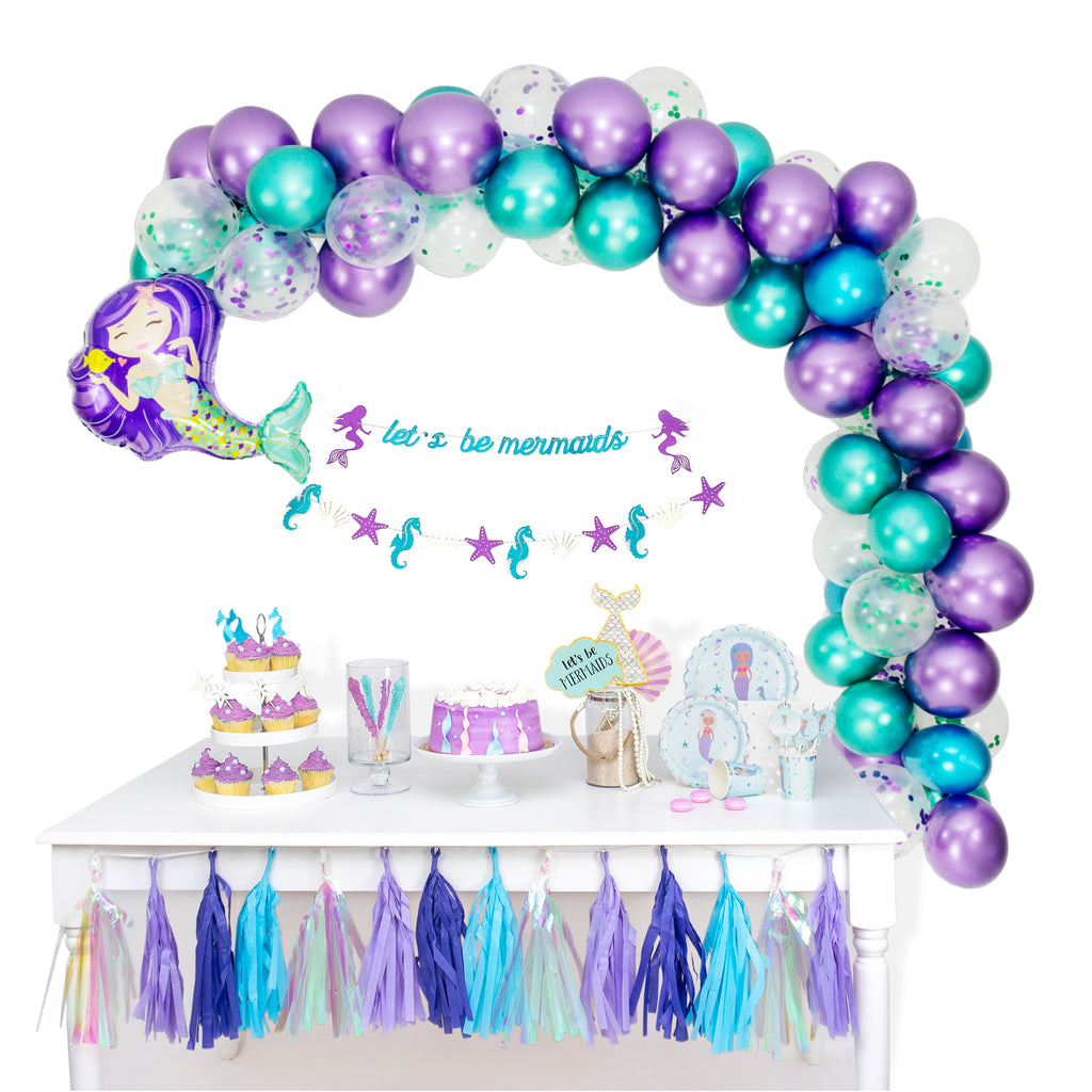 Let's Be Mermaids Balloon Garland Arch Kit