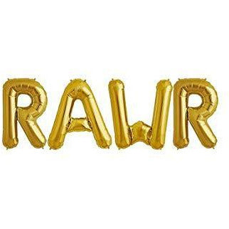 "RAWWR 32"" Gold Balloons"