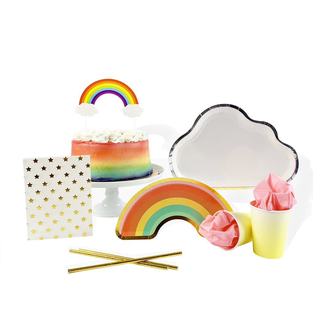 Over the Rainbow Cloud Plates