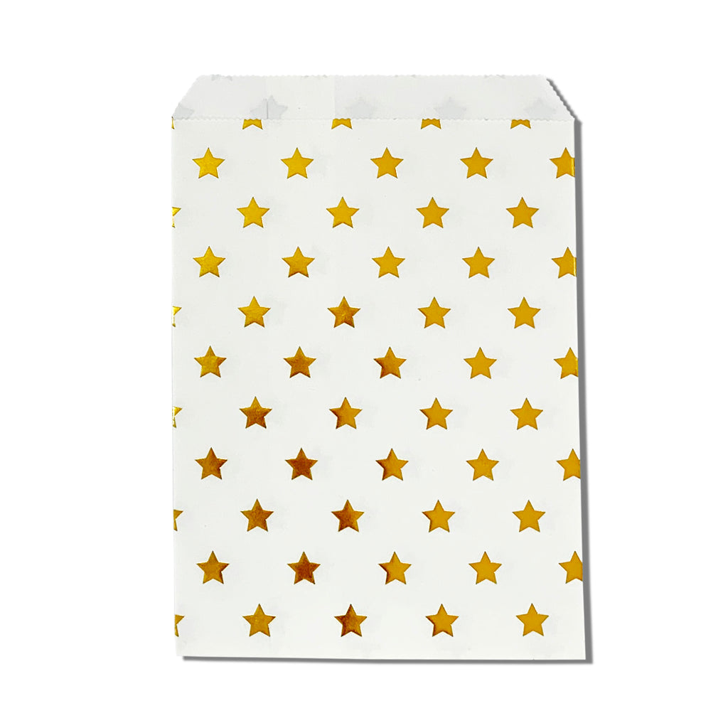 Starry Nights Gold Party Favor Bags