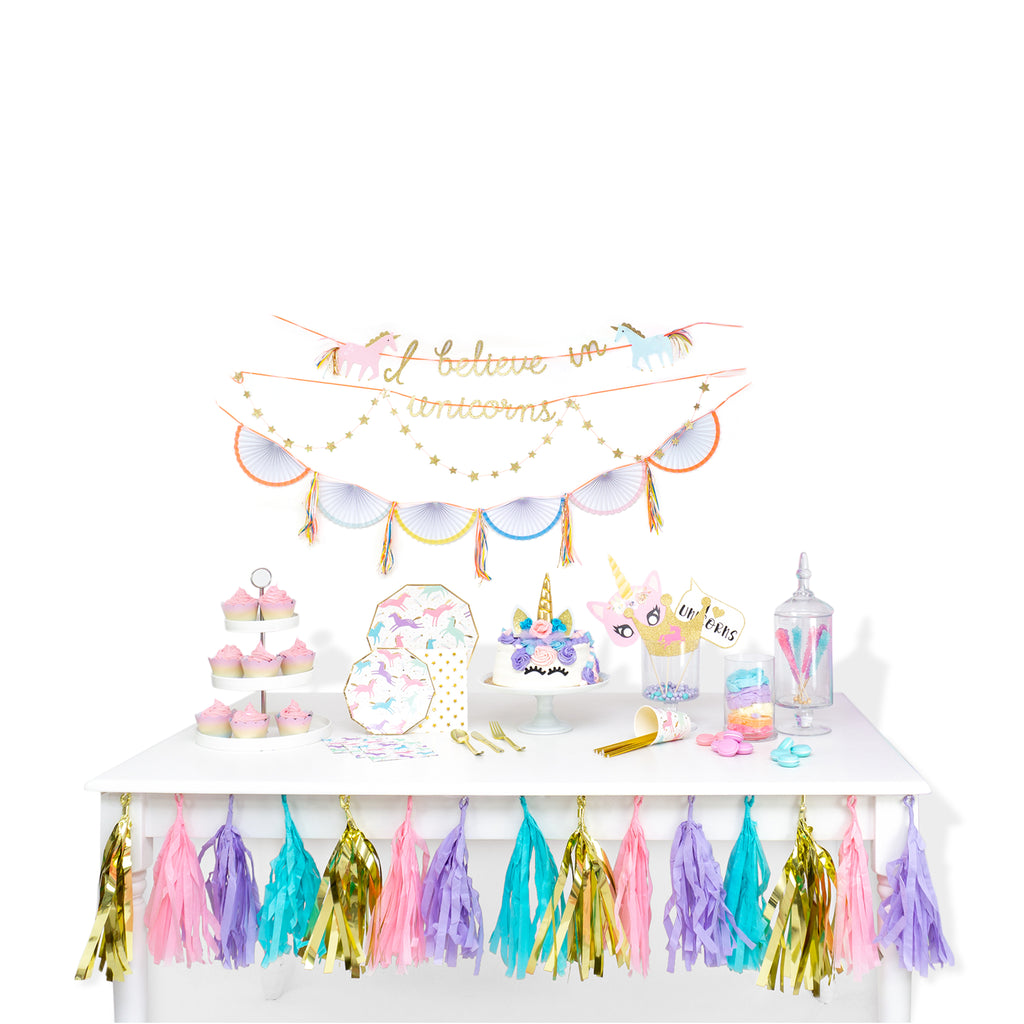 Magical Unicorn Pre-assembled Garland Tassels