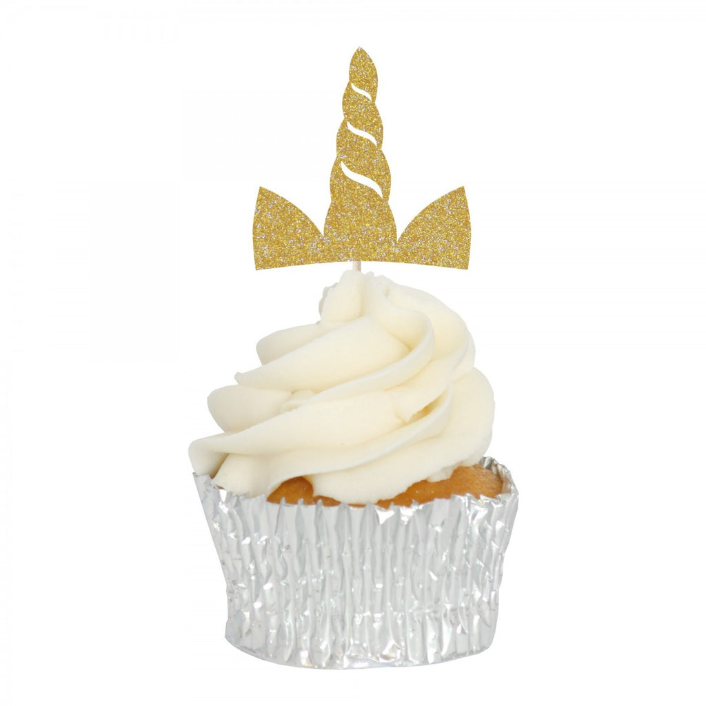 Magical Unicorn Gold Cupcake Toppers