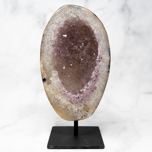 Agate & Amethyst Geode on Stand