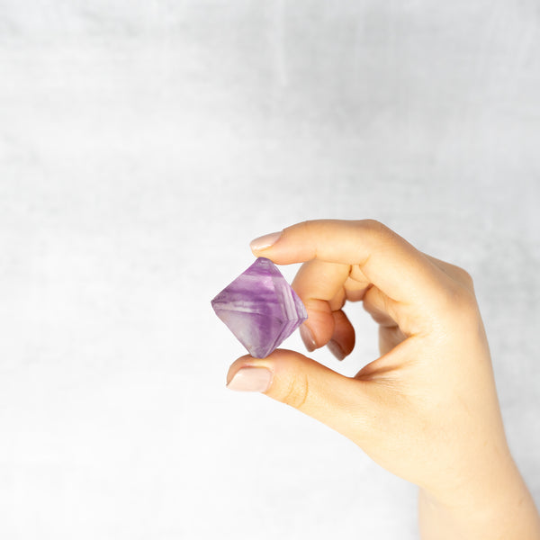 Light Purple Fluorite Octahedron