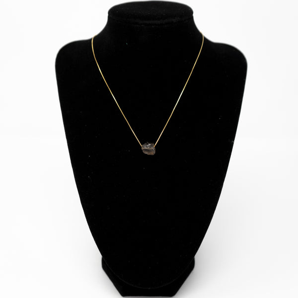 Gold Smoky Quartz Necklace
