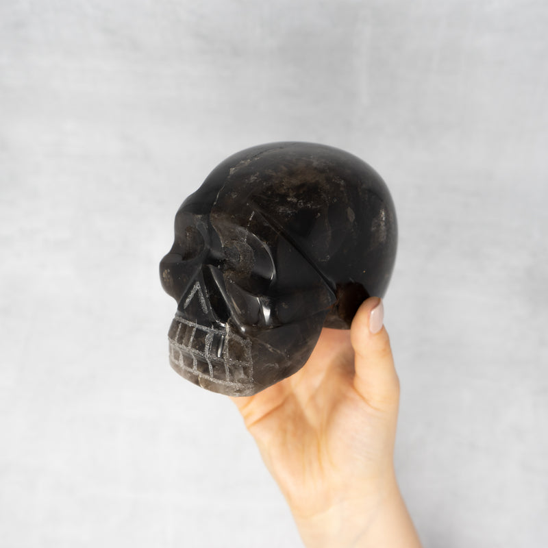 Smoky Quartz Skull