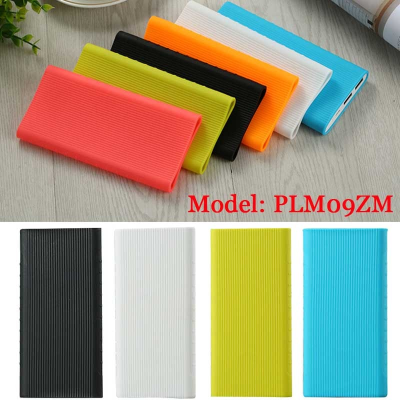 New Silicone Protector Case Cover For Xiaomi Power Bank 2 10000 mAh Dual USB Port