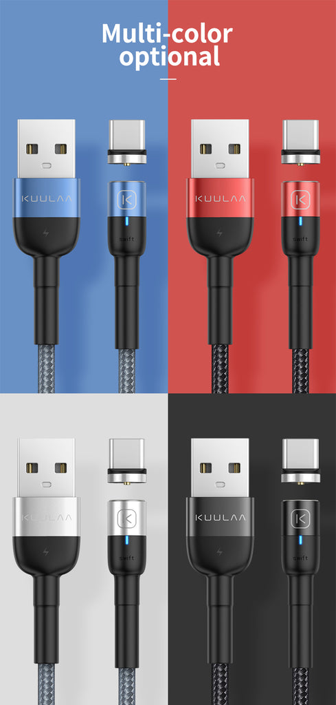 Magnetic Micro USB Type C Cable For iPhone Xiaomi Android Mobile Phone