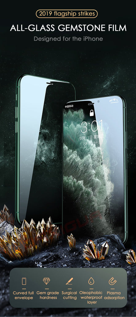 800D Full Cover Tempered Glass For iPhone 11 Pro X XR XS MAX