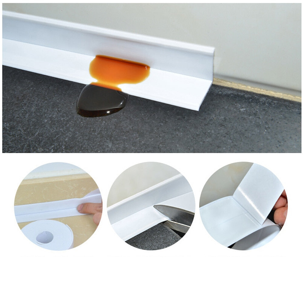 3.2mx38mm Bathroom Shower Sink Bath Sealing Strip Tape White PVC Self adhesive for Bathroom Kitchen