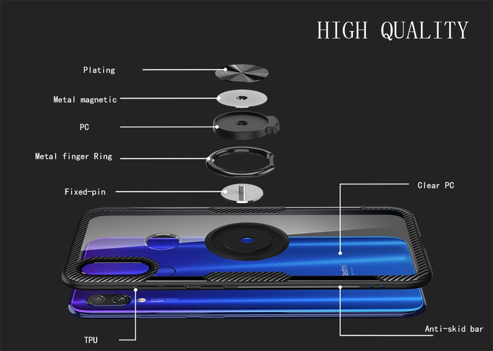 Case Magnetic Car Holder For Xiaomi Redmi Note 7 8 Pro 8T Case For Redmi K30 7 K20