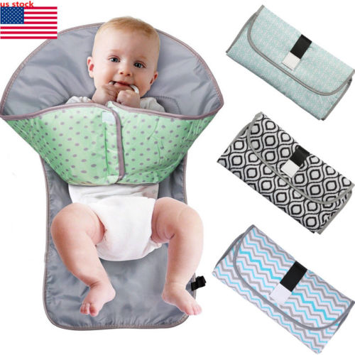 3-in-1 Multifunctional Portable Infant Baby Foldable Urine Mat Waterproof Nappy Bag