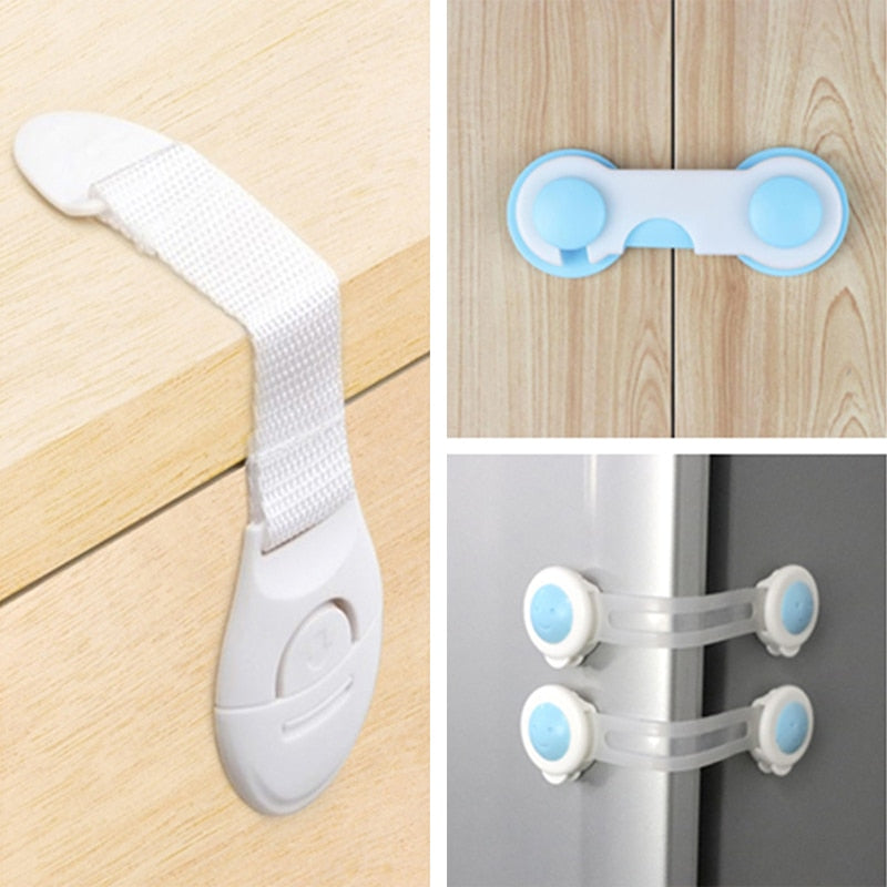 10pcs Child Safety Cabinet Lock Baby Proof Security Protector Drawer Door Cabinet Lock Plastic Protection