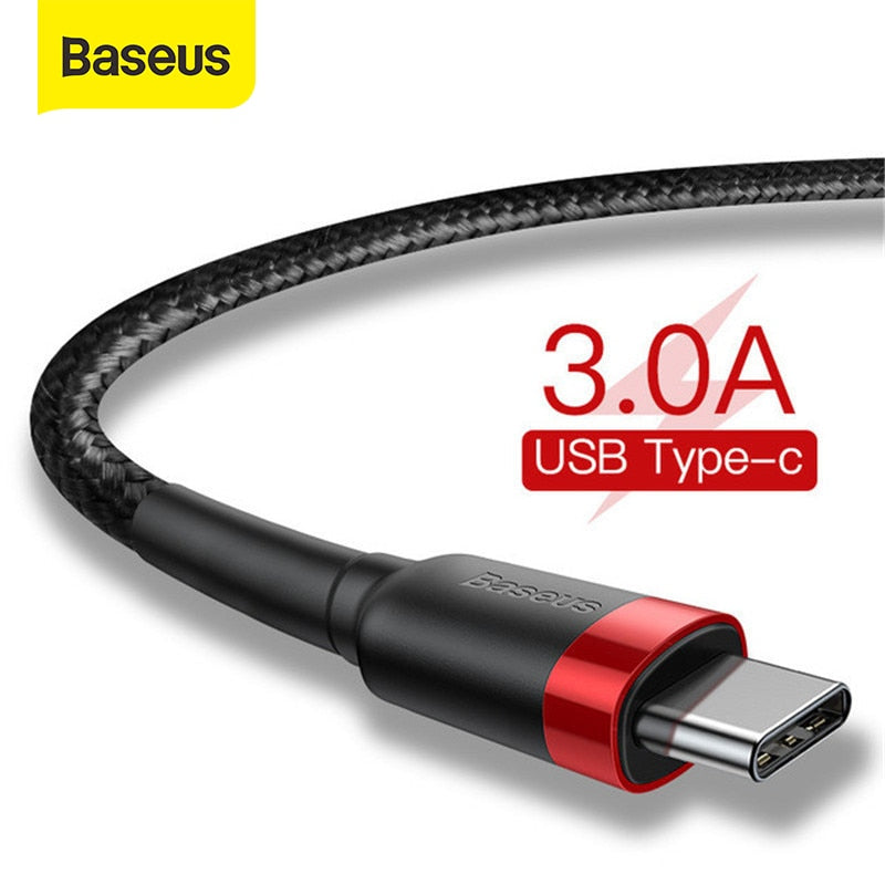 Baseus USB Type C Cable for Samsung S10 S9 Quick Charge 3.0 Cable