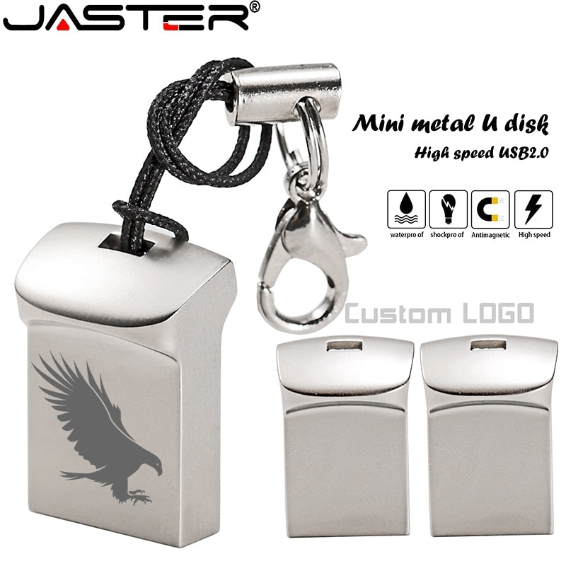 JASTER Mini metal USB flash drive 4G 8G 16GB 32GB 64GB 128G Personalise Pen Drive