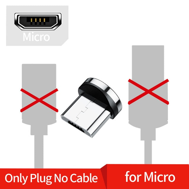 Twitch 1M 2M Magnetic Micro USB Cable For iPhone Samsung Android Mobile Phone