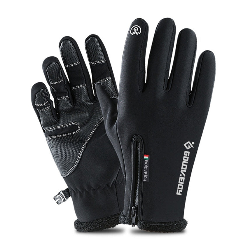 Cold-proof Unisex Waterproof Winter Gloves Cycling Fluff Warm Gloves For Touchscreen