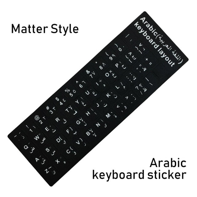 Waterproof Laptop Keyboard Stickers Spanish/English/Russian/French Deutsch Keyboard Layout