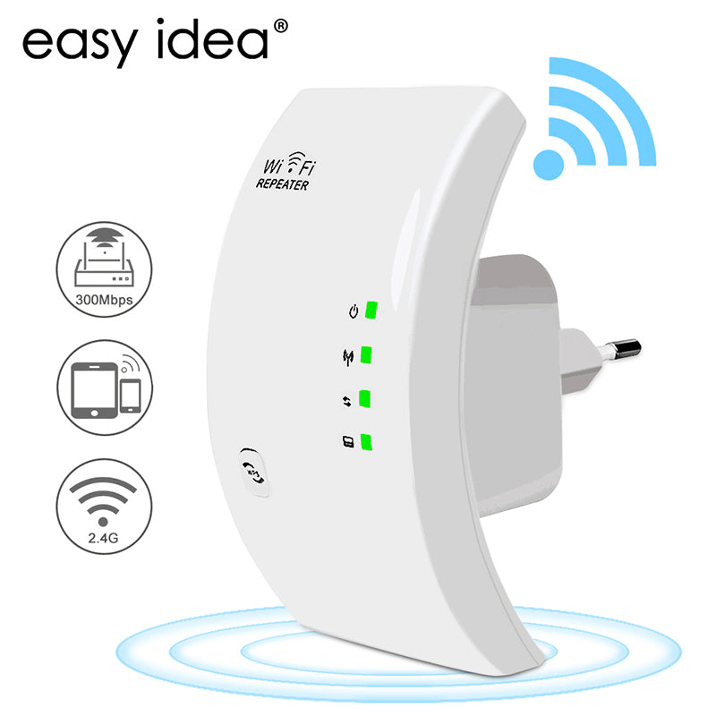 EASYIDEA Wireless WIFI Repeater 300Mbps Wifi Extender Long Range Wi fi Signal Amplifier