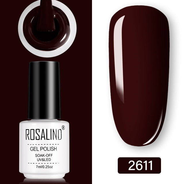 ROSALIND Gel Nail Polish Set - Semi Permanent Primer- Top Coat- 7ML