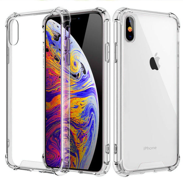 Fashion Shockproof Bumper Transparent Silicone Phone Case For iPhone 11 X XS XR XS Max 8 7 6 6S Plus