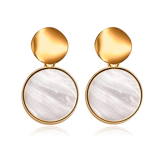New Korean Heart Statement Drop Earrings 2020 for Women Fashion Hanging Earring Jewelry