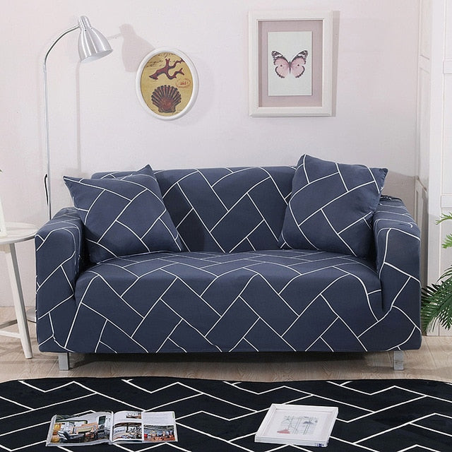 Floral Stretch Sofa Cover Cotton Elastic All-inclusive Chair Corner Couch Cover Sofa