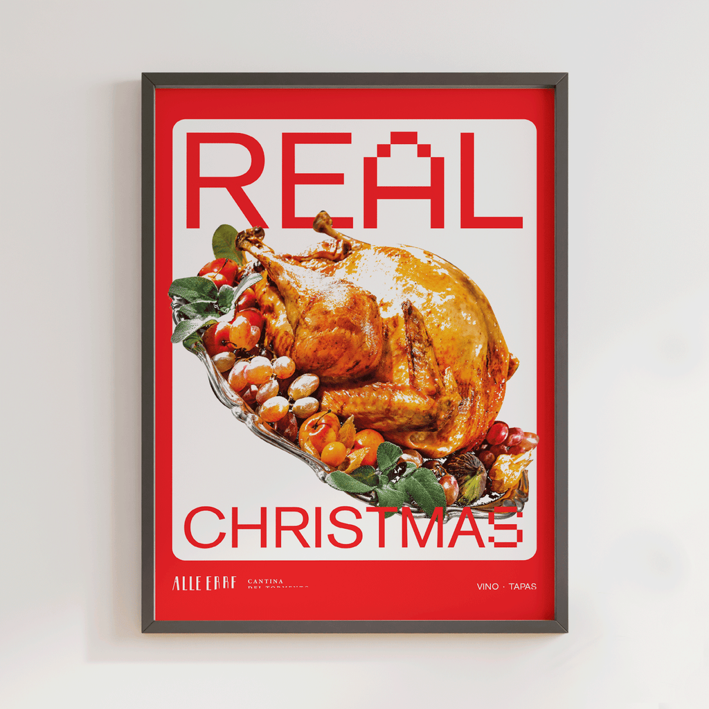 Real Christmas Chicken Print - Alle Erbe