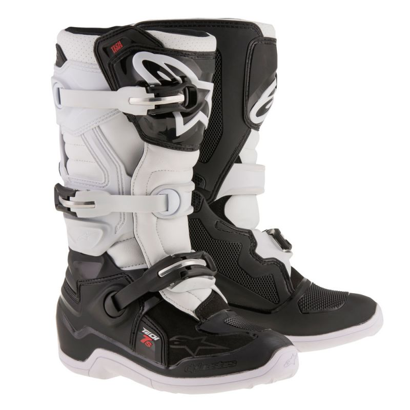 Alpinestars Tech 7S Youth Boots Black White - Even Strokes