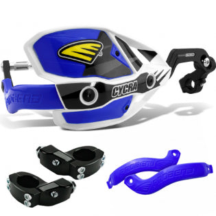 "Cycra Plastics Crm Ultra Handguards Blue (Standard Fit 7/8"" 22mm) - Even Strokes"