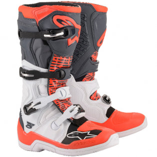 Alpinestars Tech 5 Boots White Grey Red - Even Strokes
