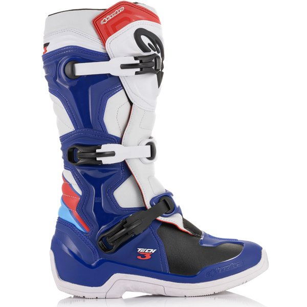 Alpinestars Tech 3 Boots Blue White Red - Even Strokes