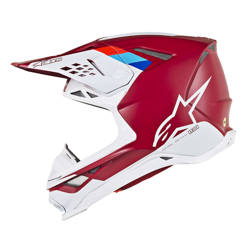 Alpinestars Helmet SM8 Contact Dark Red White - Even Strokes