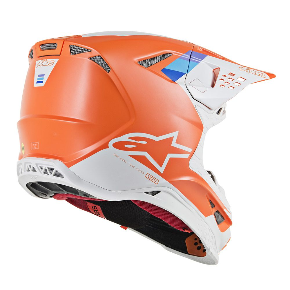 Alpinestars Helmet SM8 Contact Orange Grey - Even Strokes