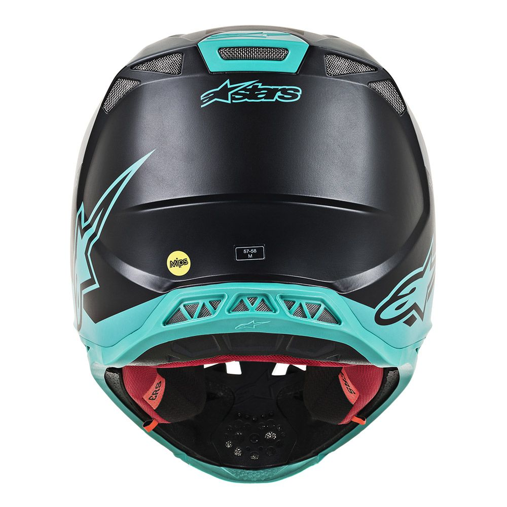 Alpinestars Helmet SM8 Radium Black Grey Teal - Even Strokes