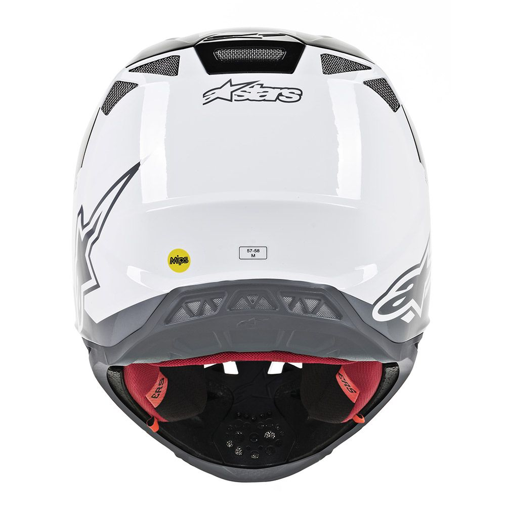 Alpinestars Helmet SM8 Radium White Black Grey - Even Strokes
