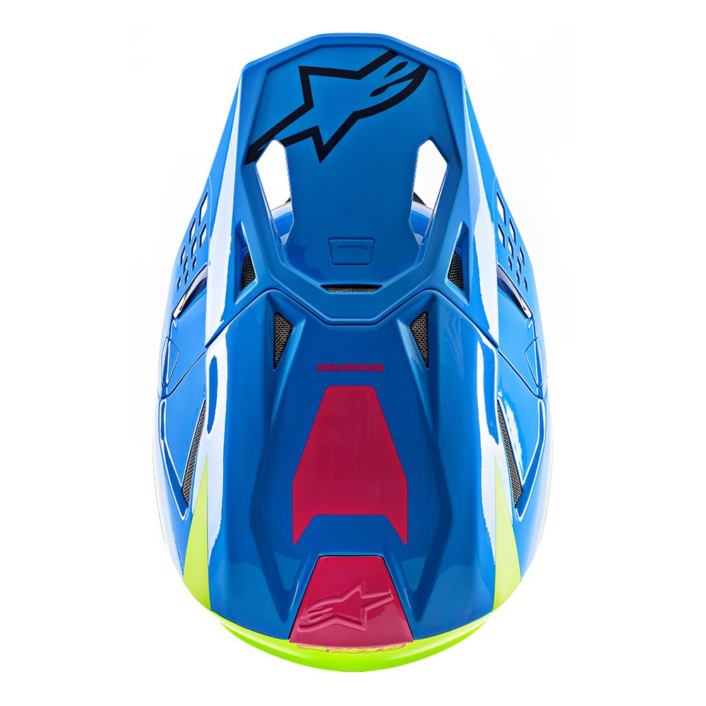 Alpinestars Helmet SM8 Radium Aqua Yellow - Even Strokes