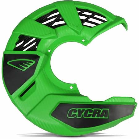 Cycra Plastics Front Disc Universal Cover Green - Even Strokes