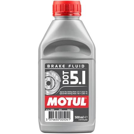 Motul Dot 5.1 Brake Fluid 0.5 Litre - Even Strokes