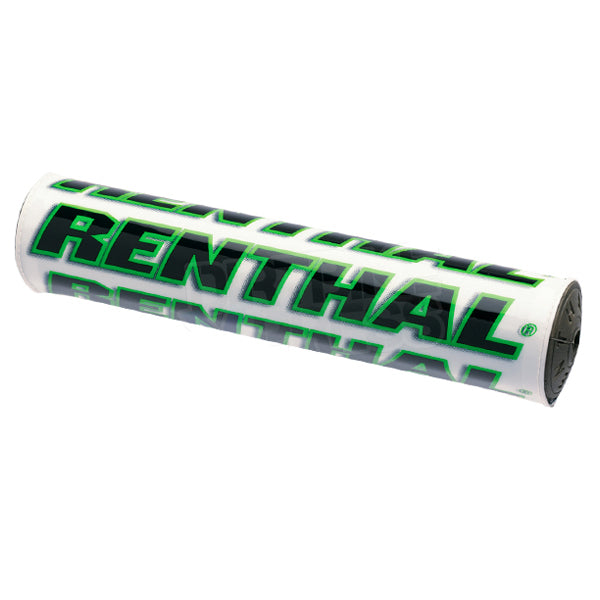 Renthal SX Bar Pad White Green - Even Strokes