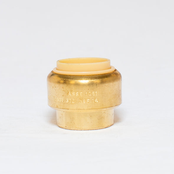 Brass Push Fit Style Cap
