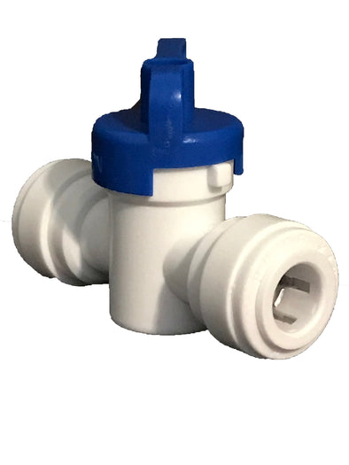 "Quick-Connect, Polypropylene, 3/8"" Straight Ball Valve, RO"