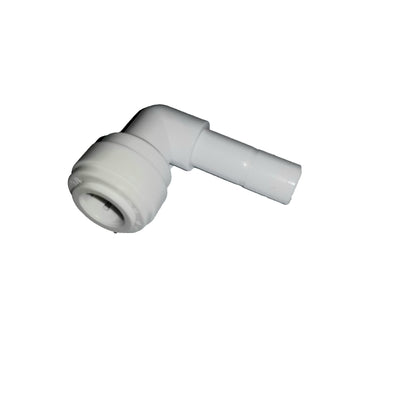 "Quick-Connect, Polypropylene, 1/4"" Stem Elbow, 90, RO"