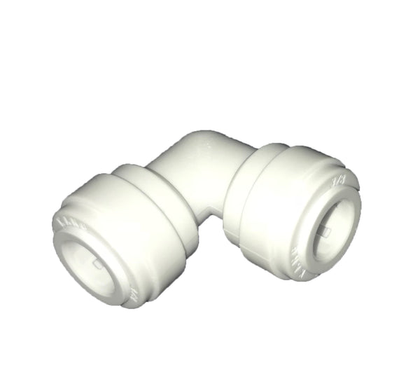 "Quick-Connect, Polypropylene, 3/8"" Elbow, 90, Push-to, RO"